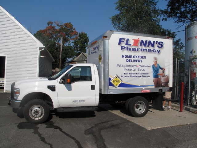 Flynns Pharmacy delivery truck.